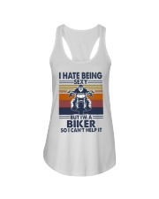 Vintage I Hate Being Sexy But Im A Biker Shirt Ladies Flowy Tank thumbnail