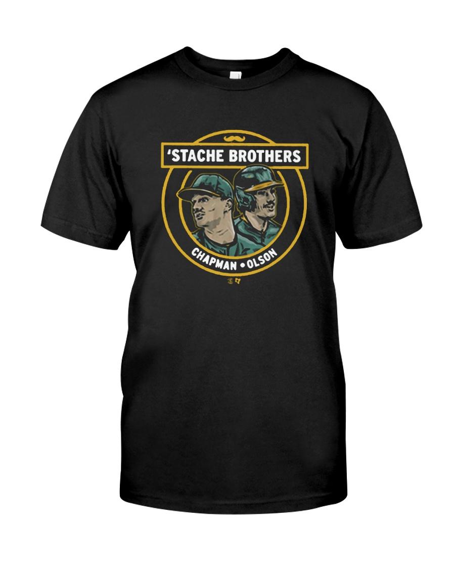 Stache Brothers Matt Chapman And Matt Olson Shirt Premium Fit Mens Tee