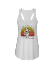 Vintage Easily Distracted By Cats And Guitar Shirt Ladies Flowy Tank thumbnail