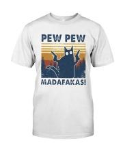 Vintage Cat Pew Pew Madafakas Shirt Premium Fit Mens Tee thumbnail