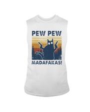 Vintage Cat Pew Pew Madafakas Shirt Sleeveless Tee thumbnail