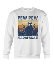Vintage Cat Pew Pew Madafakas Shirt Crewneck Sweatshirt thumbnail