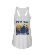 Vintage Cat Pew Pew Madafakas Shirt Ladies Flowy Tank thumbnail