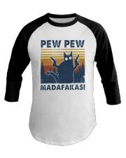 Vintage Cat Pew Pew Madafakas Shirt Baseball Tee thumbnail