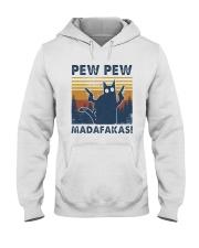 Vintage Cat Pew Pew Madafakas Shirt Hooded Sweatshirt thumbnail