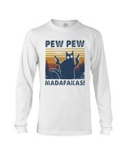 Vintage Cat Pew Pew Madafakas Shirt Long Sleeve Tee thumbnail