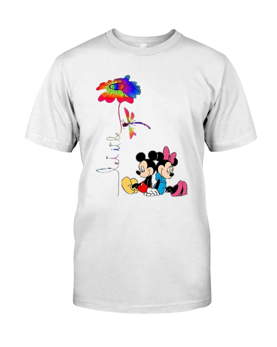 Flower And Dragonfly Mickey Let It Be Shirt Classic T-Shirt