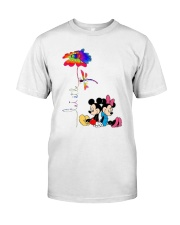 Flower And Dragonfly Mickey Let It Be Shirt Classic T-Shirt front