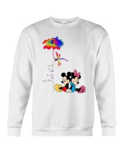 Flower And Dragonfly Mickey Let It Be Shirt Crewneck Sweatshirt thumbnail