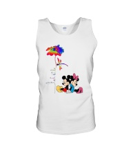 Flower And Dragonfly Mickey Let It Be Shirt Unisex Tank thumbnail