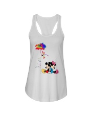 Flower And Dragonfly Mickey Let It Be Shirt Ladies Flowy Tank thumbnail