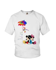Flower And Dragonfly Mickey Let It Be Shirt Youth T-Shirt thumbnail