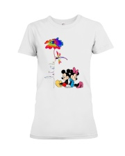 Flower And Dragonfly Mickey Let It Be Shirt Premium Fit Ladies Tee thumbnail
