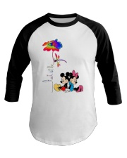 Flower And Dragonfly Mickey Let It Be Shirt Baseball Tee thumbnail