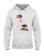 Flower And Dragonfly Mickey Let It Be Shirt Hooded Sweatshirt thumbnail