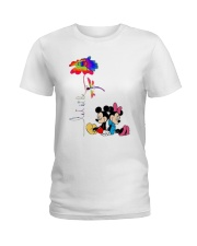 Flower And Dragonfly Mickey Let It Be Shirt Ladies T-Shirt thumbnail