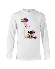 Flower And Dragonfly Mickey Let It Be Shirt Long Sleeve Tee thumbnail