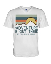 Vintage Hiking Adventure Is Out There Bugs Shirt V-Neck T-Shirt thumbnail