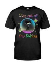 Black Cat Stay Out Of My Bubble Shirt Classic T-Shirt front