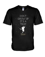 Tinkerbell Don't Grow Up It's A Trap Shirt V-Neck T-Shirt thumbnail