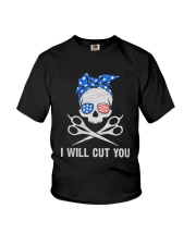 American Skull I Will Cut You Shirt Youth T-Shirt tile