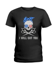 American Skull I Will Cut You Shirt Ladies T-Shirt tile