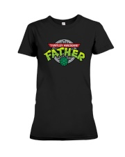 Turtley Awesome Father Shirt Premium Fit Ladies Tee thumbnail