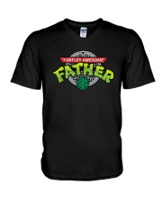 Turtley Awesome Father Shirt V-Neck T-Shirt thumbnail