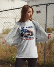 American Flag Just A Girl Who Loves Camping Shirt Classic T-Shirt apparel-classic-tshirt-lifestyle-07