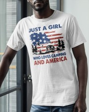 American Flag Just A Girl Who Loves Camping Shirt Classic T-Shirt apparel-classic-tshirt-lifestyle-front-39