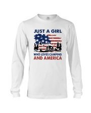 American Flag Just A Girl Who Loves Camping Shirt Long Sleeve Tee tile