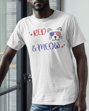 American Flag Red White And Meow Shirt Classic T-Shirt apparel-classic-tshirt-lifestyle-front-39