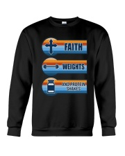 Vintage Faith Weights And Protein Shakes Shirt Crewneck Sweatshirt thumbnail