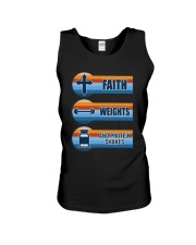 Vintage Faith Weights And Protein Shakes Shirt Unisex Tank thumbnail