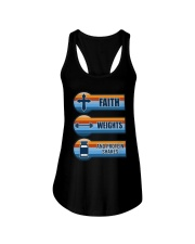Vintage Faith Weights And Protein Shakes Shirt Ladies Flowy Tank thumbnail