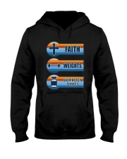 Vintage Faith Weights And Protein Shakes Shirt Hooded Sweatshirt thumbnail