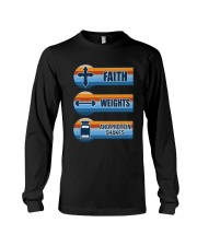 Vintage Faith Weights And Protein Shakes Shirt Long Sleeve Tee thumbnail