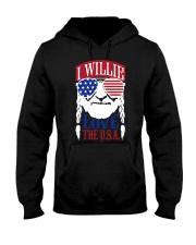 American Flag I Willie Love The Usa Shirt Hooded Sweatshirt thumbnail