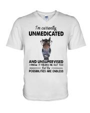 Heifer Im Currently Unmedicated Unsupervise Shirt V-Neck T-Shirt thumbnail