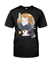 Samurai Cat Shirt Classic T-Shirt front