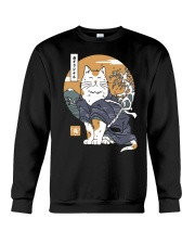 Samurai Cat Shirt Crewneck Sweatshirt thumbnail