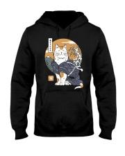 Samurai Cat Shirt Hooded Sweatshirt thumbnail