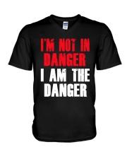 I'm Not In Danger I Am The Danger Shirt V-Neck T-Shirt thumbnail