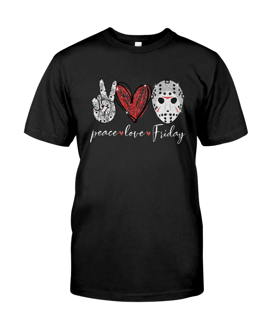 Saw Peace Love Friday Shirt Classic T-Shirt