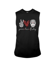 Saw Peace Love Friday Shirt Sleeveless Tee thumbnail