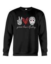 Saw Peace Love Friday Shirt Crewneck Sweatshirt thumbnail