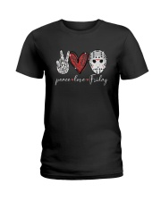 Saw Peace Love Friday Shirt Ladies T-Shirt thumbnail