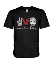 Saw Peace Love Friday Shirt V-Neck T-Shirt thumbnail