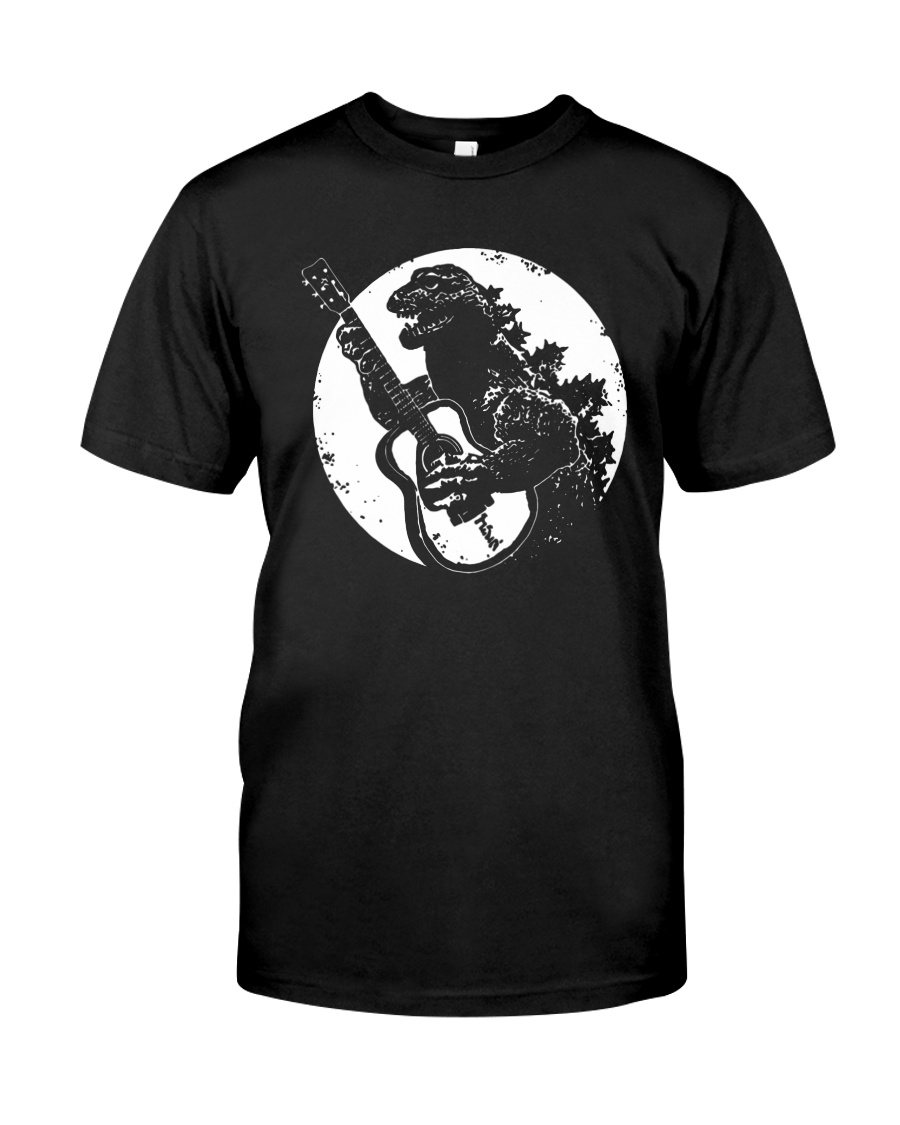 Godzilla Playing Guitar Shirt Classic T-Shirt