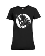 Godzilla Playing Guitar Shirt Premium Fit Ladies Tee thumbnail